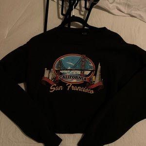 Brandy Melville San Francisco cropped sweatshirt